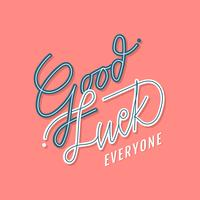Good Luck Retro Typography