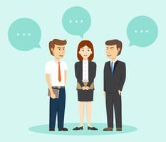 Business People Talk WIth Buble Vector Illustration