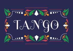 Tango in Fileteado Vector