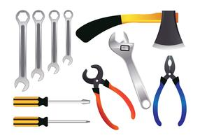 Realistic Tools Vector Set