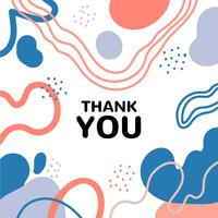 Colorful Abstract Art Background With Thank you