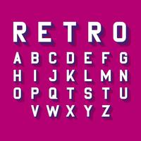 Stylized Retro Font Alphabet vector