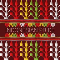 Vettori di orgoglio indonesiani eccezionali