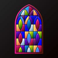 Stained Glass Windows Decoration Frame Illustration