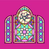 Muhammad Stained Glass Window Vector