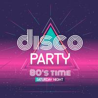 Disco Party Typography Vector