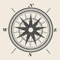 Vintage Compass Illustration vector