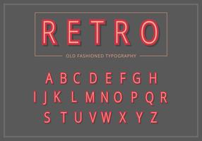 Retro Vintage Typography Set vector