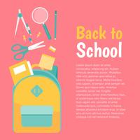 Vector de suministros escolares