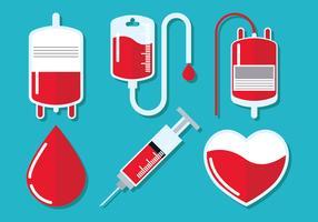 Blut-Laufwerk-Vektor-Set