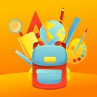 Vettore di forniture scolastiche