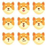 Hond Emoties Collectie Vector