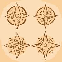 Hand Drawn Compass Vector