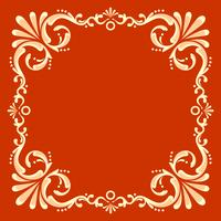 Square Fileteado Frame With Red Background Vector