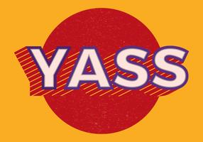 Yass Retro Typography