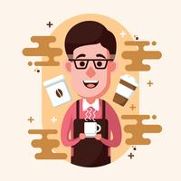 Barista Illustratie