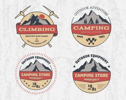 National park vintage badge  Mountain explorer label
