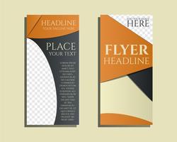 Soluciones inteligentes Plantilla de diseño de folletos y volantes con gestión Concepto de palabras clave de consultoría. Mejor para la empresa de consultoría de gestión, etc. Diseño geométrico único. Vector