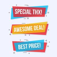 Special offer labels and banners vector