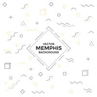 Memphis background with geometric shapes vector