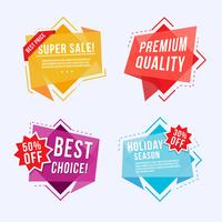 Labels and banners Collection vector