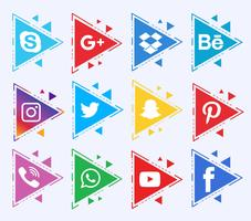 Sammlung von Social Media Icons