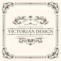 Victorian Design Template vector
