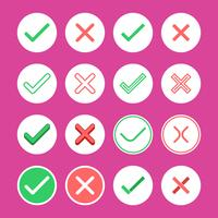 Right And Wrong Flat Icon Vector