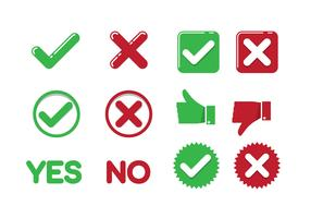 Yes or No Clip Art vector