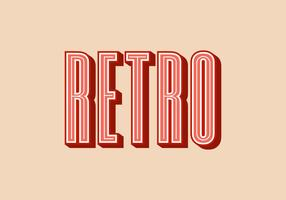 Rétro typographie Vector Illustration