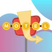 Flaches Weinlese-Zeichen mit moderner Steigungs-Hintergrund-Vektor-Illustration