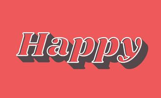 Happy retro typografie