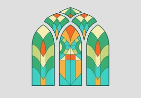 Stained Glass Window Vector Illustration
