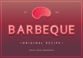Signos de barbacoa vintage. Retro Vintage Barbeque Sign.