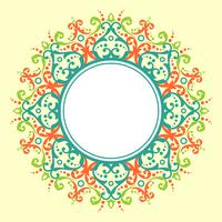 Circle Border Modern Victorian Vector