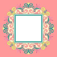Square Border Modern Victorian Vector