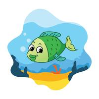 Cartoon Fish Illustration
