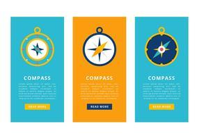 Kompass Vector Banner