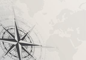 Kompas op witte achtergrond. Lege paginasjabloon met kompasvormen. Vector illustratie.