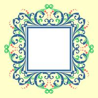 Square Frame Modern Victorian Vector