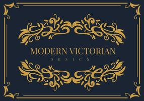 Vector de marco victoriano moderno