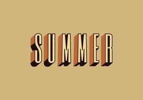 Summer Retro Typography Vector