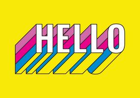 Hello Retro Typography