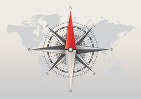 Compass on White Background. Blank Page Template with Compass Shapes.  Vector Illustration.