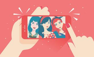 Selfie-Vektor