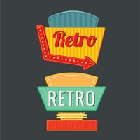 Vintage or Retro signs Template Set vector
