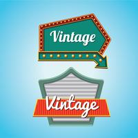Vintage signs Template Set with American Design Style vector