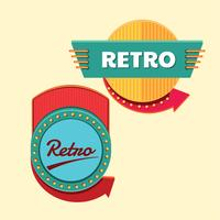 Cool Retro or Vintage Signs Template Set vector