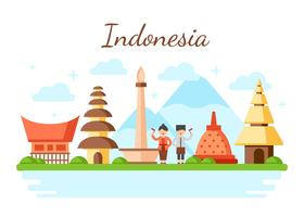 Indonesia vector Illustration