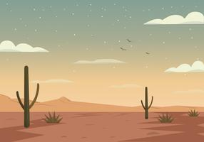 Vector  Desert Landscape Illustration